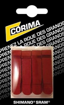Picture of Corima blister of 4 red brake pads