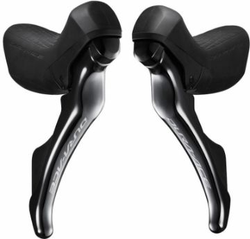 Изображение Shimano Dura Ace ST-R9100 STI for Rim Brakes - 2x11-speed pair