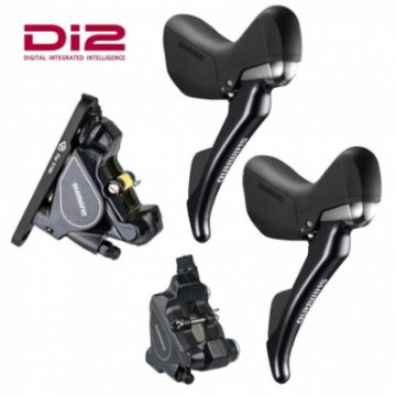 Изображение Shimano Di2 Disc Brake Set 1000/1700mm ST-R785PA6 Pair with BR-RS805 - Flat mount