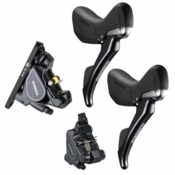 Изображение Shimano ST-RS685PA5 with BR-RS805 Hydraulic Disc-Brake - Flat Mount